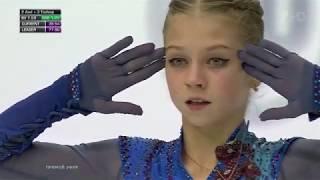 Александра Трусова Произвольная программа Женщины Финал Гран при по фигурному катанию 19 20