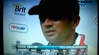 Rahul Dravid...Indian Man of the Series...IND vs ENG Tests... 22-Aug-2011...