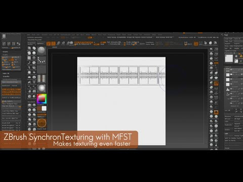 ZBrush SynchronTexturing - Apply Alpha and Diffuse simultaneously Intro