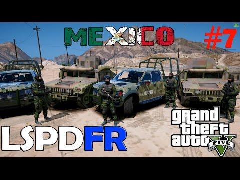 GTA V LSPDFR #7 | EJERCITO DE MÉXICO DETENIENDO A TRANSPORTISTAS DE DROGA | TheAxelGamer