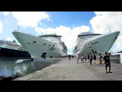 St John's Antigua Cruise Port Tour (4K)