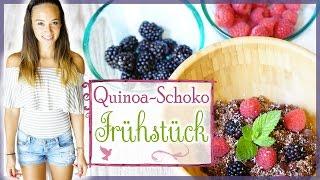 Gesundes Frühstück zum Abnehmen - Quinoa Bowl - veganes Rezept - Fit in den Tag starten