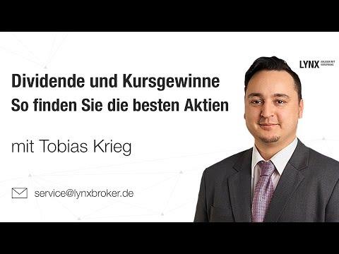 Dividende und Kursgewinne - So finden Sie die besten Aktien | Webinar 14.03.2018 Tobias Krieg