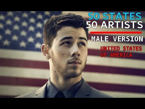 50 States, 50 Artists from United States Of America (Male version)