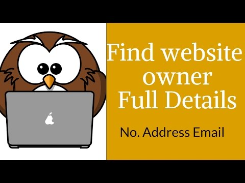 How To Find Any Website Owner Contact Details | phone number, address, email id