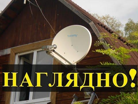 Показываю как работает спутниковый интернет в селе