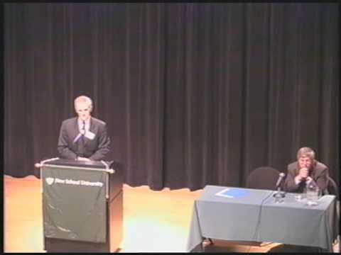 2002 - International Justice, War Crimes, and Terrorism - Keynote: Bob Kerrey | The New School