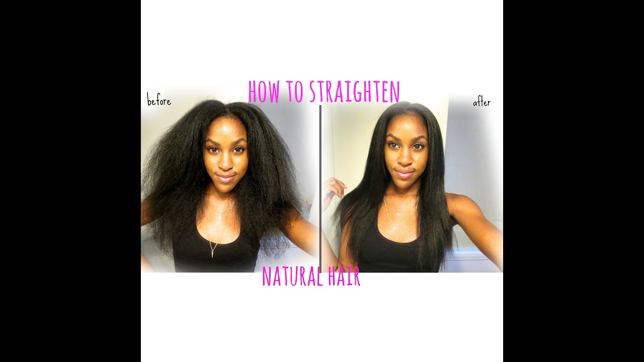 how to make your hair straight naturally for guys
