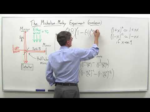 The Michelson Morley experiment part 4   Stanford University   Coursera