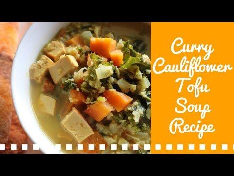 CURRY CAULIFLOWER TOFU SOUP | VEGAN & KETO FRIENDLY