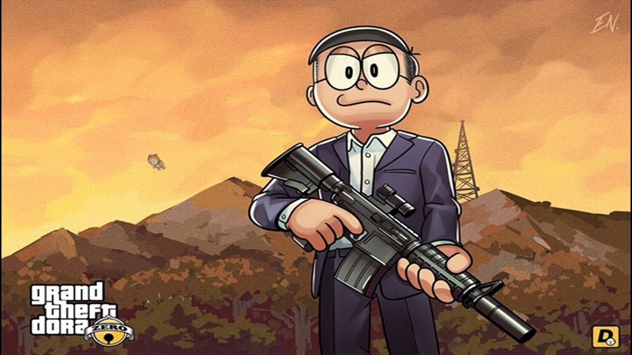 Doraemon Zero In Gta  Cartoon Trendz