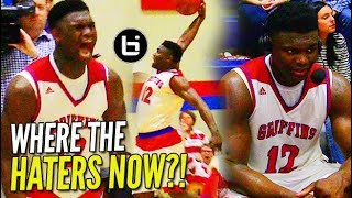 Zion Williamson INSANE COCKBACK; Crowd STORMS COURT after WIN on NATIONAL TV!