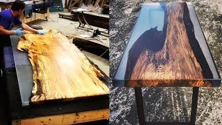 10 Awesome Epoxy Resin Table Top DIY Woodworking Creative Ideas |Live Edge River Table Countertops