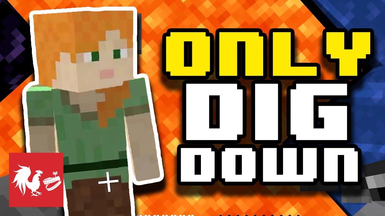 Minecraft Dig Down Race | Hard Mode