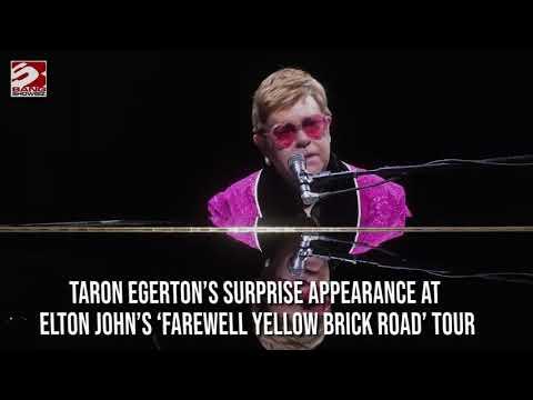 Taron Egerton's Surprise Appearance At Elton John's