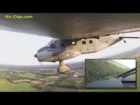 Dornier 28 German Navy AMAZING outboard camera plus cockpit views!  [AirClips full flight series]