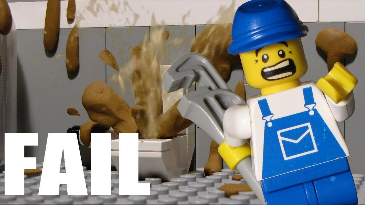 Lego Toilet Fail 2 Toilet Disaster Youtube
