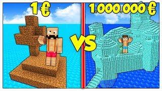 ISOLA POVERA DA 1 EURO CONTRO ISOLA RICCA DA 1 MILIONE! - Minecraft ITA