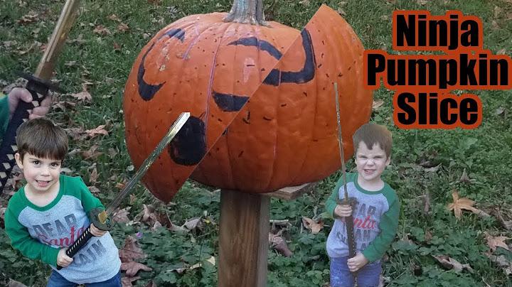 ninja pumpkin slice