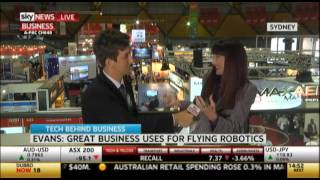 Shara Evans | Sky News Business uses for flying robots