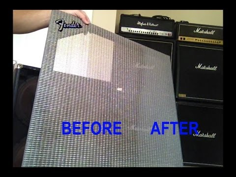 how to repair and clean tolex fender 4x12 guitar amp speaker cabinet