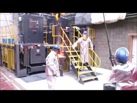 Modular Induction furnace system installation