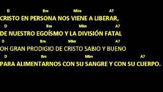 CANTOS PARA MISA - EUCARISTÍA, MILAGRO DE AMOR - Pan Transformado - Letra y acordes - Comunión