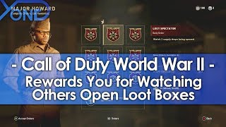 Call of Duty WWII Rewards You for Watching Others Open Loot Boxes