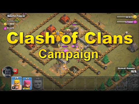 Clash Of Clans Campaign - Rat Valley And Brute Force