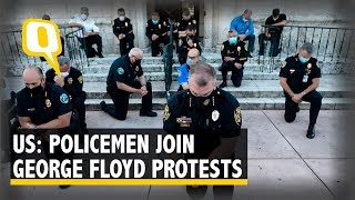 #GeorgeFloydProtests: Several Cops Stand in Solidarity With Demonstrators in US| The Quint