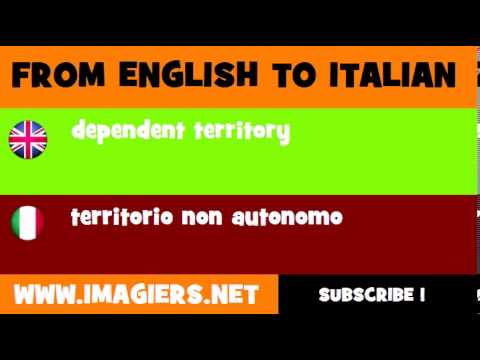 How to say dependent territory in Italian