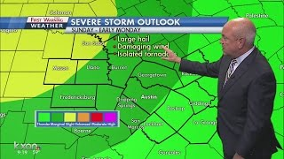 Rain, strong storms possible all weekend
