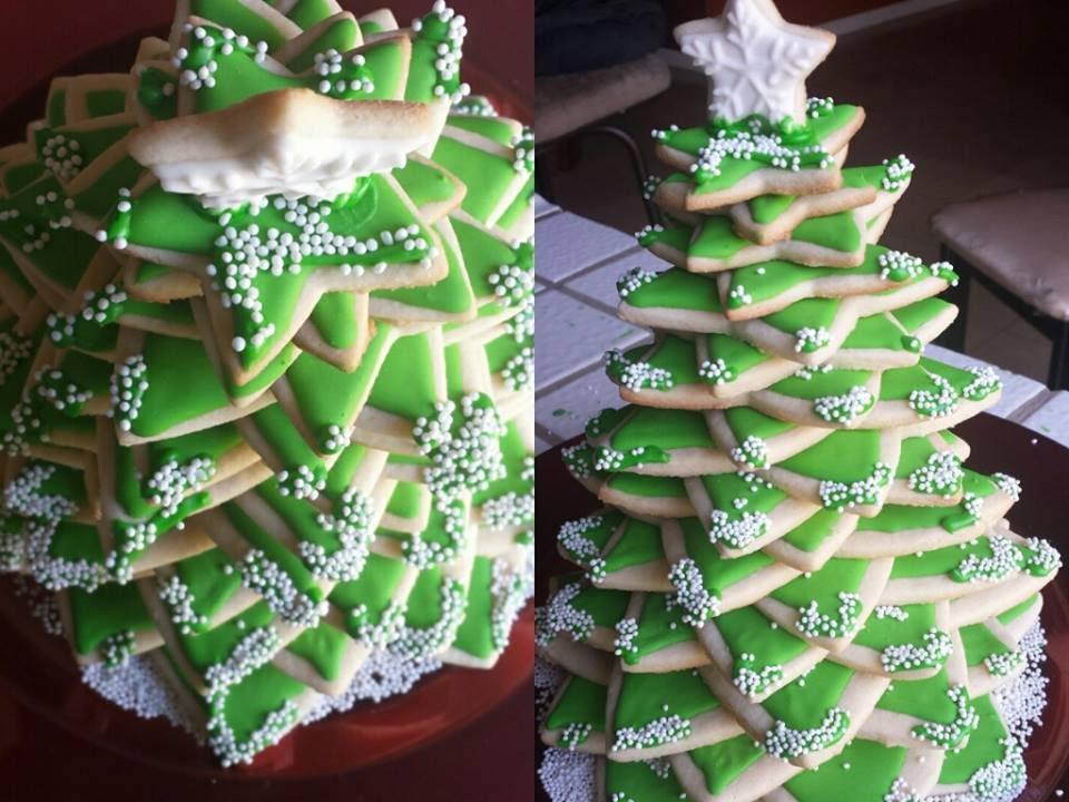 Arbolito de navidad con galletas postre navideno - Arbolito de navidad ...