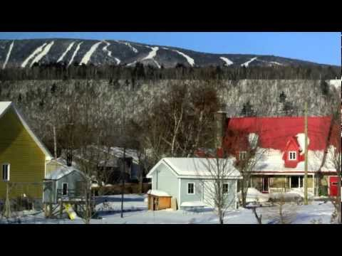 The train and a day at Le Massif de Charlevoix, Quebec, Canada