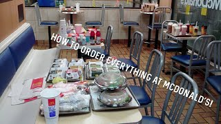 ORDERING EVERYTHING AT MCDONALDS! - THIS IS A MUST SEE!