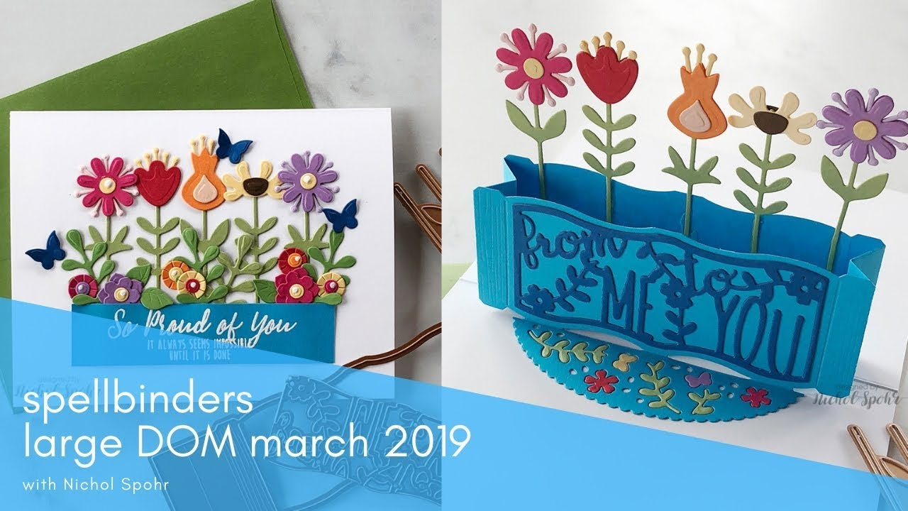 SPELLBINDERS MARCH 2019 | LARGE DIE OF THE MONTH (POP UP GARDEN
