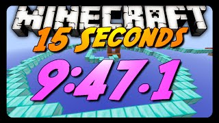 Minecraft Parkour | 15 Seconds Race w/ Sethbling! | 9:47.1