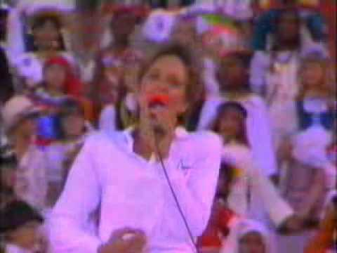 1984 Olympics  opening song reach out and touch somebodys hand
