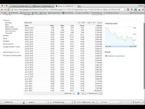 Google Finance Download