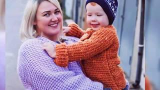Обзор детской длинной вязанной кофты, вязаное детское пальто