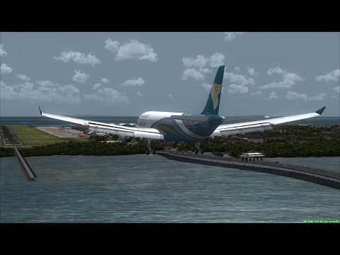 OMAN AIR A330-300 landing at Bali ++ FSX