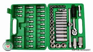 Обзор набора профессионального инструмента Toptul GCAI6001 на 60 предметов.