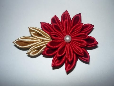 Tutorial de flor Kanzashi Japonesa on Pinterest | 18 Pins