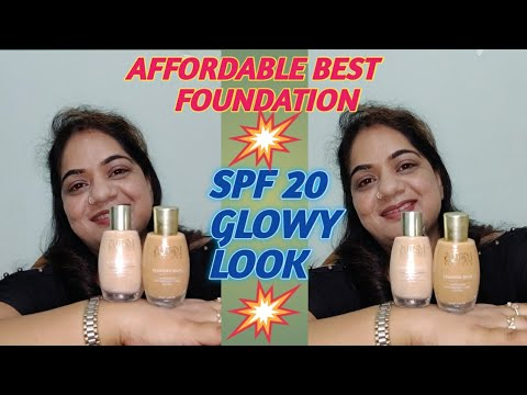 #REVIEW#DEMO#GLOWY#MATTE#LOTUS RADIANCE FOUNDATION#SPF-20#AFFORDABLE#DEWY#Nancy The Makeup Artist#