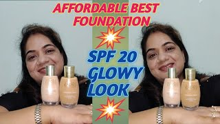 REVIEW DEMO GLOWY MATTE LOTUS RADIANCE FOUNDATION SPF-20 AFFORDABLE DEWY Nancy The Makeup Artist