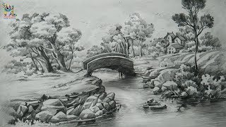 pencil landscape shading drawing scenery draw easy step drawings strokes landscapes sketch realistic painting pdf sketches forest simple charcoal paintings