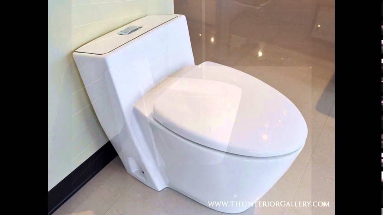 modern bathroom toilet modern one piece dual flush toilet monte carlo youtube - Modern Bathroom Toilet