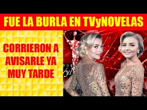 Angelique Boyer Se Pone Vestido Al Revés En Premiación De Tvynovelas