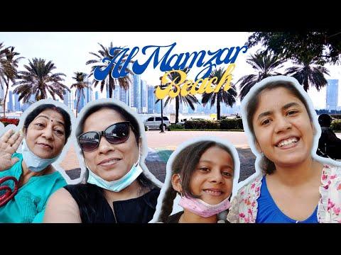 A Fabulous Day at Al Mamzar Beach + a little picnic Park | Assalam Alaikum Dubai | Varnika Vlogs