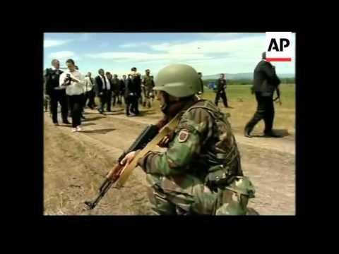 Georgian President Mikhail Saakashvili attends NATO exercise